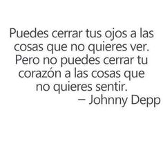 Johnny Depp. I've seen this before, but it was cool to see in spanish.