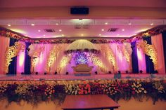 Decors - Wedding Stage Decorators In South India, We… Indian Wedding Stage, India Wedding, Ethnic Wedding, Trendy Wedding, Luxury Wedding, Summer Wedding, Wedding Hall Decorations, Marriage Decoration, South Indian Weddings
