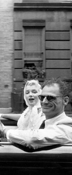 Marilyn Monroe and Arthur Miller in NYC, 1957. Photo by Sam Shaw.