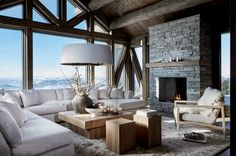 Outdoor Rooms In Swedish Mountains Classy Living Room, Cute Living Room, Boho Living Room, Beautiful Living Rooms, Living Room Decor, Modern Cabin Interior, Interior Design, Warehouse Living, Suite Principal