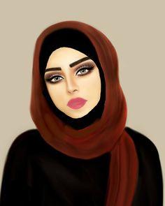 Girly M, Tumblr Drawings, Girly Drawings, Cute Cartoon Girl, Cartoon Art, Sarra Art, Hijab Drawing, Lovely Girl Image, Anime Muslim