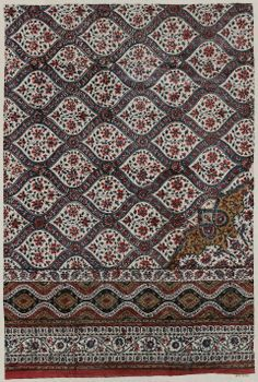 Fragment of a bed cover (Palampore) Indian, 19th century