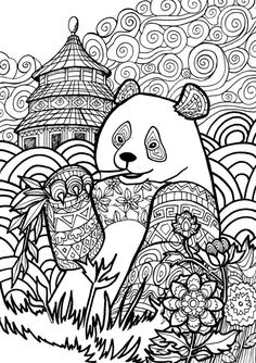 Giant Panda page from my Animal Dreamers coloring book I'm working onhttps://www.kickstarter.com/projects/1382679986/animal-dreamers-art-therapy-coloring-book-for-all