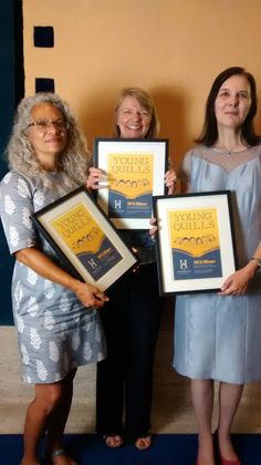 This week Geraldine McCaughrean was awarded the Young Quills Historical Fiction Prize for The Middle of Nowhere. Unfortunately Geraldine couldn't make it to the award ceremony, but here's her editor Anne Finnis with the other winners, Catherine Johnson and Sally Prue. #historicalfiction #MiddleofNowhere #award #prize #winner The Marketing, Historical Fiction, Sally, Editor, Middle, Pictures, Photos, Historical Fiction Books, Resim
