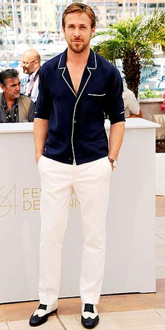 Ryan Gosling. he's the only man that pull off this outfit<3