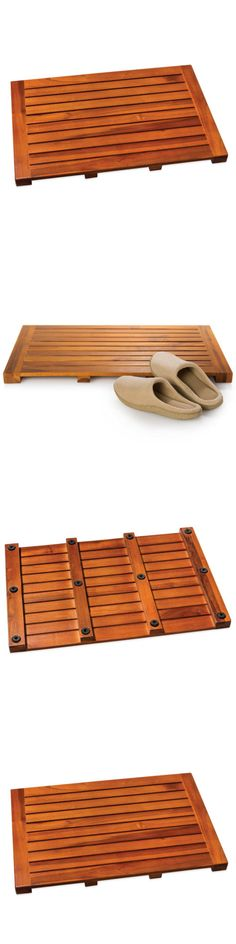 Non-Slip Appliques and Mats 66722: Bath Tub Mat Teak Wood Anti Skid Non Slip Rubber Water Resistant Bathroom Decor -> BUY IT NOW ONLY: $67.99 on eBay!