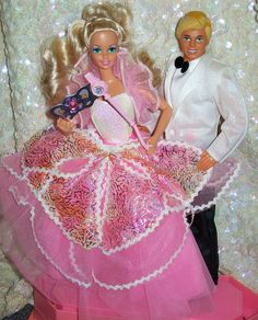 1991 Costume Ball Barbie and Ken