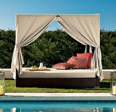 interesting outdoor beds with canopy. delmar queen outdoor daybed rest hard1 30 Outdoor Canopy Beds Ideas for a  Romantic Summer living Pinterest