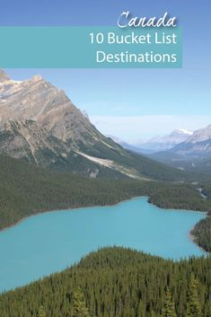 Canada is the second largest country in the world. So, it is not surprising that there are many must-see destinations in Canada. Peyto Lake in Alberta is one our favorites.