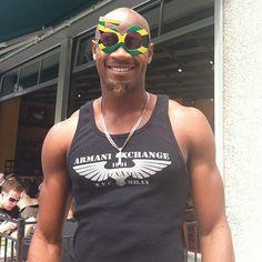 Asafa Powell is feeling the Jamaica 50 spirit.