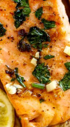 Crispy Seared Lemon Garlic Herb Salmon