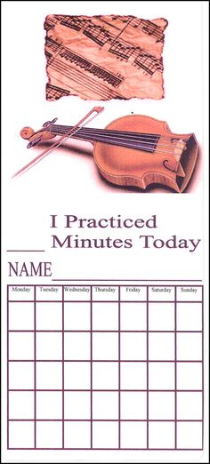 I Practice Music - Violin Book Chart | Main photo (Cover) ...