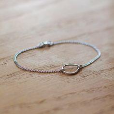 the year of wonder  silver teardrop bracelet by by elephantine, $30.00