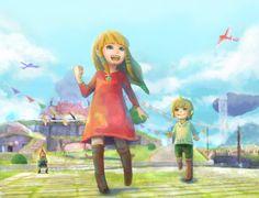 Baby Zelda and Link