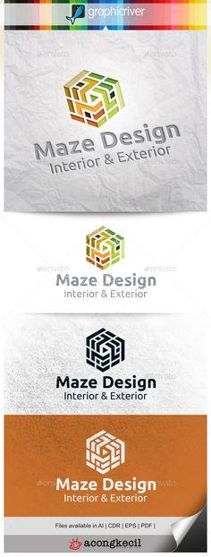 Maze Design V.4 Logo Design Template Vector #logotype Download it here: http://graphicriver.net/item/maze-design-v4/10300412?s_rank=1539?ref=nexion