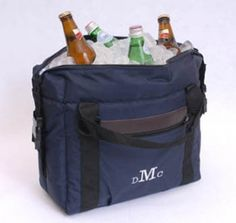 Tote your 12-pack in style with our attractive but sturdy soft-sided cooler. Perfect for picnics, sporting events, and parties, this stylish cooler is lightweight and easy to carry and includes a detachable shoulder strap. For a personal touch, we'll embroider your cooler with the recipient's monogram. Our cooler is also a great gift for the executive or college student in your life. #tote #bag #cooler #heartdeeds
