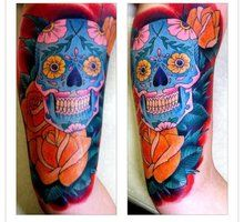 Hello Kitty Sugar Skull Tattoo   deviantART: More Like ROSES AND BLOSSOMS 1 by ~TANQUE86
