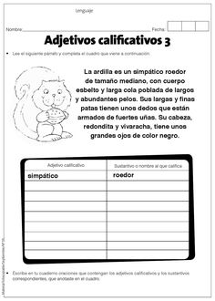 #ClippedOnIssuu from Adejtivoscalificativosme Short Vowels, Teaching Spanish, Worksheets, Homeschool, Author, Classroom, Science, Education, Learning