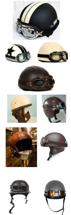 Vintage motorcycle helmets that are made for today's biker have the look and feel of an oldschool retro helmet, with modern safety and style upgrades