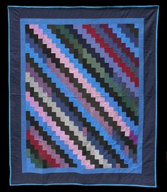 Bricks or Lightning Streak, circa 1950, Ohio, Amish.  From the renowned Esprit quilt collection. It's a one-patch, constructed with rectangles, off set the way real bricks are.  Offered by The Quilt Complex quilt complex, quilt block, amish quilts, quilt lover, quilt collect, bricks, real brick, quilt amish