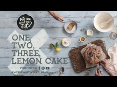One Two Three Lemon Cake Recipe | We Are What we Eat