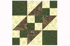 A Rocky Road to California quilt block pattern is an easy patchwork design that can be used to create quilts with a diagonal flow in a quilt's layout.