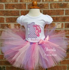 ON SALE First Birthday Outfit Ballerina Tutu by ThreadsofParadise