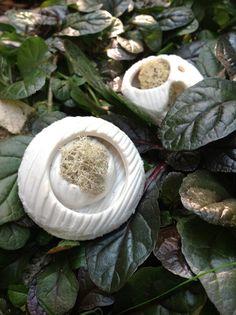 FOREST - WHITE DREAM  Collana - porcellana - lichene -pvc  Necklace - porcelain - moss -pvc