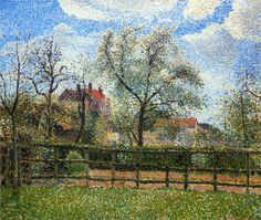 Camille Pissarro - Pear Trees and Flowers at Eragny, Morning, 1886