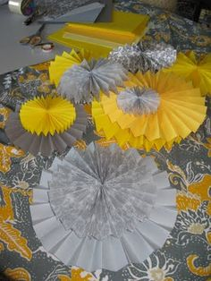 DIY super easy paper rosettes! Love this idea for a party.