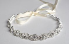 Rhinestone Headband T43 by BridalJewelryGifts on Etsy