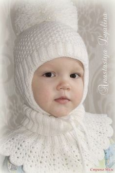 Knitting Pattern Cable Crown Hat and Cowl Set All sizes - Her Crochet Crochet Baby Costumes, Crochet Baby Hats, Baby Knitting, Knit Headband Pattern, Knitted Headband, Knitted Hats, Baby Girl Hats, Girl With Hat, Baby Hut