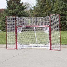 EZ Goal Steel Folding Hockey Goal with Backstop & Targets - 67008