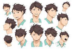 Official cosplay reference image archive for Haikyuu second season Haikyuu Kageyama, Manga Haikyuu, Oikawa Tooru, Kenma Kozume, Anime Manga, Anime Art, Iwaoi, Character Sheet, Character Design