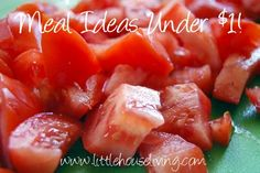Cheap and Easy Meals for less than $1 per serving. Simple ideas! - Little House Living