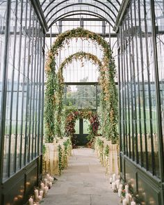 stunning ceremony location in the greenhouse in Ireland
