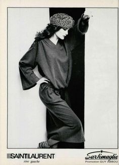 Campaign: Yves Saint Laurent  Season: Fall 1978  Photographer: Francois Lamy, Michel Momy