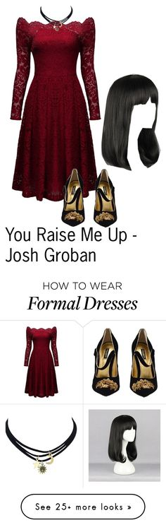 """""""When I am down, and, oh, my soul, so weary // When troubles come, and my heart burdened be // Then, I am still and wait here in the silence // Until you come and sit awhile with me"""" by sjc1999 on Polyvore featuring Dolce&Gabbana, joshgroban and youraisemeup"""