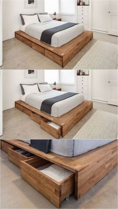 Diy Bed Frame With Storage Drawers Bed Frame With