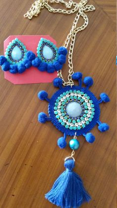 Necklace and Earrings Strass por MyKmiAccesorios en Etsy