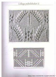 "Photo from album ""Haapsalu sall"" on Yandex. Lace Knitting Stitches, Crochet Stitches Patterns, Knitting Charts, Lace Patterns, Free Knitting, Stitch Patterns, Knitting Patterns, Knitting Projects, Knit Crochet"