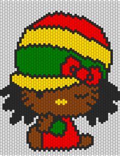 Reggae Hello Kitty Bead Pattern