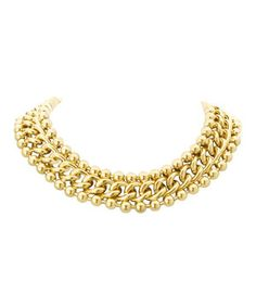 Love this PASSIANA Gold Ball & Link Collar Necklace by PASSIANA on #zulily! #zulilyfinds
