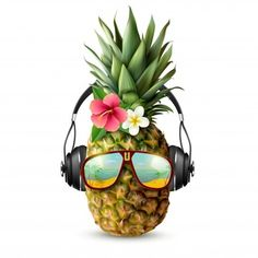 Buy Realistic Pineapple Concept by macrovector on GraphicRiver. Realistic concept with pineapple decorated with trendy accessories glasses headphones and flowers on white background. Pineapple Tattoo, Pineapple Art, Capa Do Face, Pineapple Pictures, Logo Fleur, Pineapple Illustration, Pineapple Wallpaper, Vector Photo, Tattoo Ideas