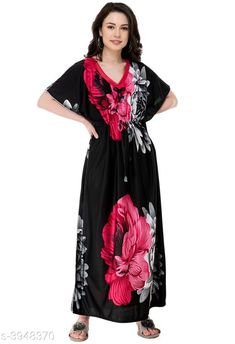 Nightdress Trendy Imported Satin Night Wear Fabric: Imported Satin  Sleeves:  Sleeves Are Not Included Size: S - 36 in  M - 38 in  L- 40 in XL- 42 in Length: Up To 48 in             Type: Stitched Description: It Has 1 Piece of Women's Night Wear Work: Printed Country of Origin: India Sizes Available: Free Size, S, M, L, XL, XXL, XXXL, 4XL, 5XL   Catalog Rating: ★4.2 (3448)  Catalog Name: Eva Trendy Imported Satin Night Wear Vol 7 CatalogID_556532 C76-SC1044 Code: 092-3948370-975