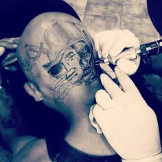 Head Tattoos, I Tattoo, Sleeve Tattoos, Raiders Baby, Raiders Football, Raiders Tattoos, Raiders Wallpaper, Oakland Raiders Logo, Street Tattoo