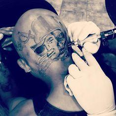 Head Tattoos, Sleeve Tattoos, I Tattoo, Raiders Baby, Raiders Football, Raiders Tattoos, Raiders Wallpaper, Oakland Raiders Logo, Street Tattoo