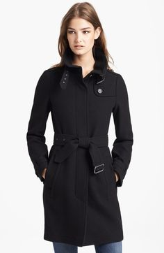 Burberry Brit 'Rushworth' Belted Wool Blend Coat available at #Nordstrom - can someone please buy this for me