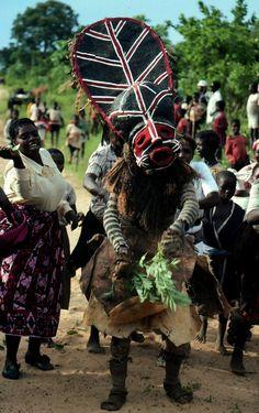 Zambia; Chokwe peoples Boy's Initiation Photo by Manuel Jordán