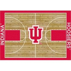 cab16acf48f adidas Indiana Hoosiers Crimson Player On-Court Full Snap Jacket. See more.  Indiana Hoosiers Basketball Court Rug